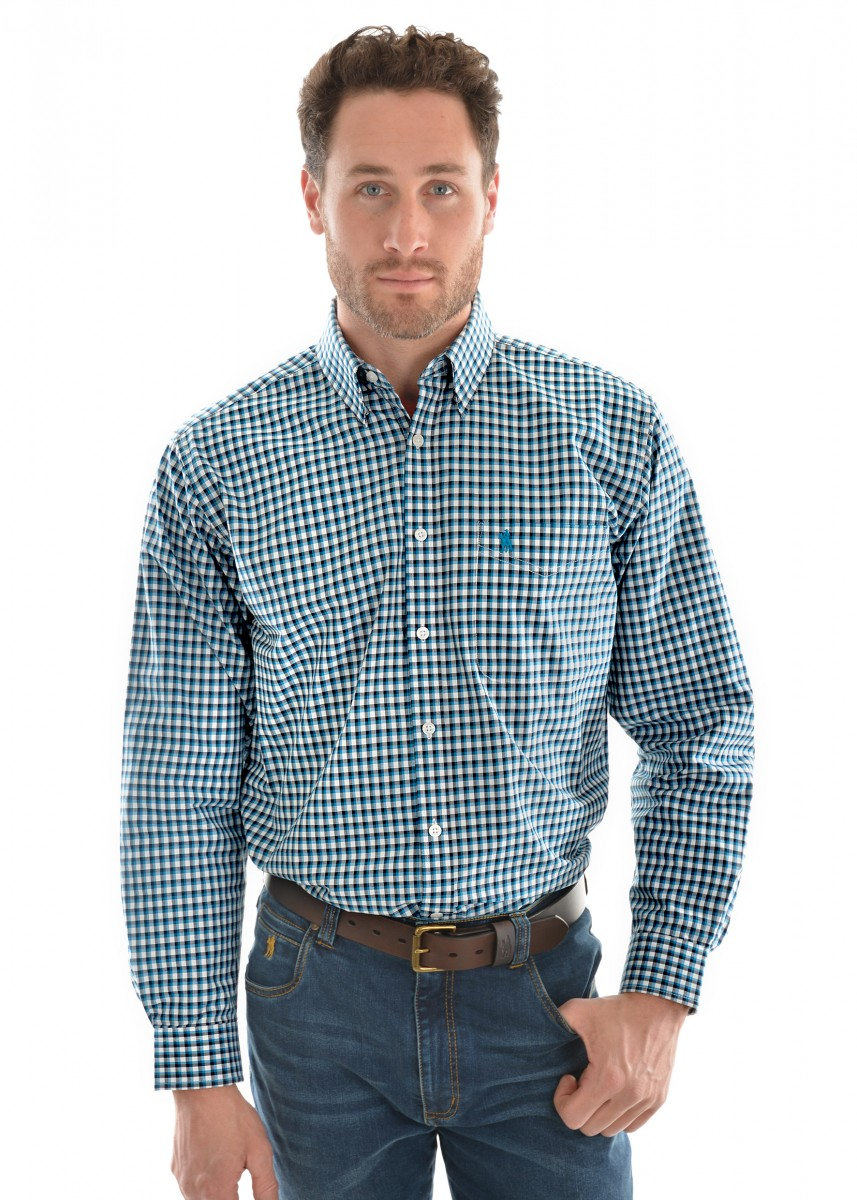 MENS ALPHA CHECK 1-POCKET L/S SHIRT