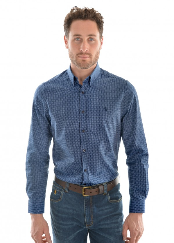 MENS MCKINNON PRINT TAILORED L/S SHIRT