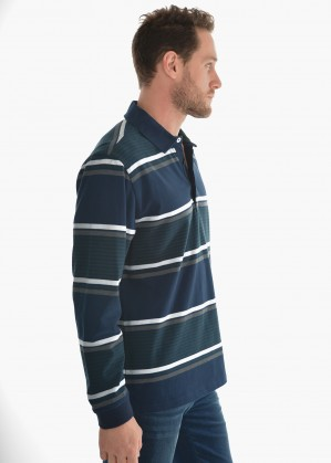 MENS MORGAN STRIPE RUGBY