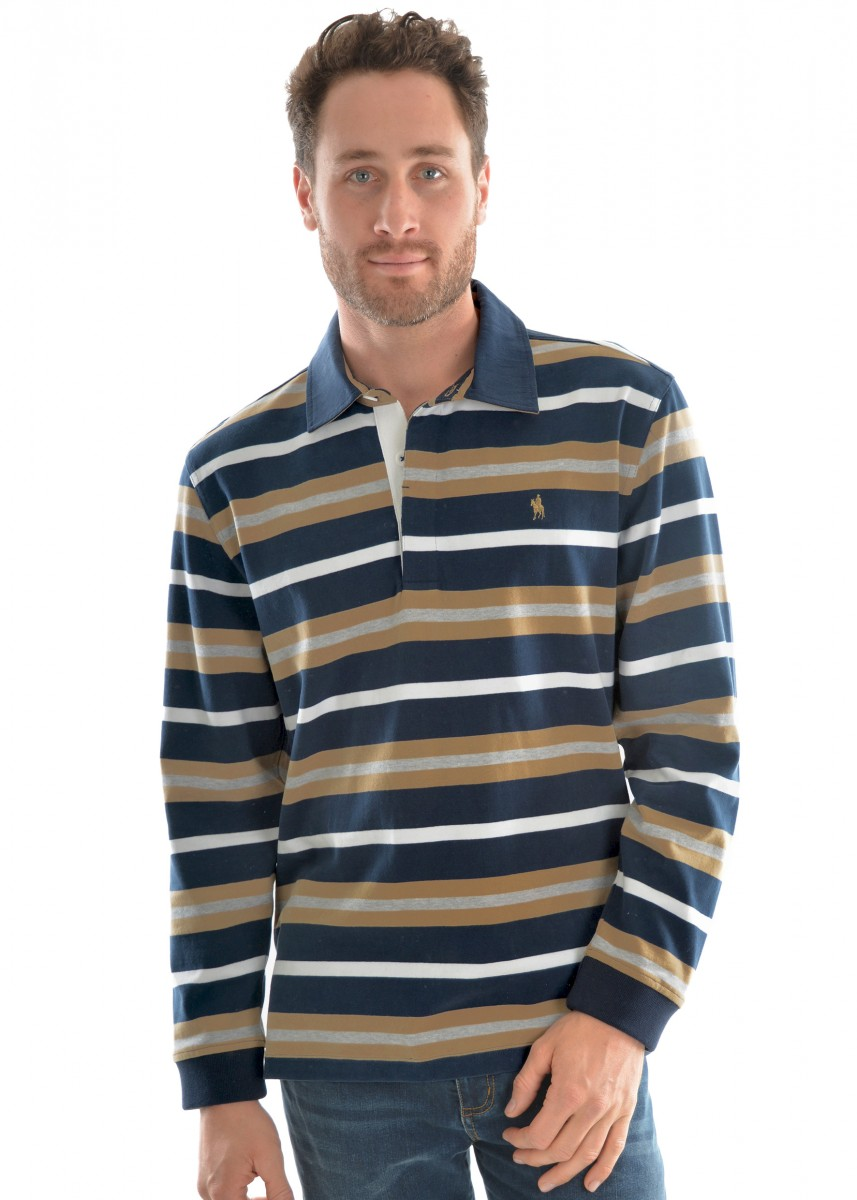MENS LANGDON STRIPE RUGBY