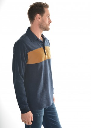 MENS SHAW PANEL STRIPE RUGBY