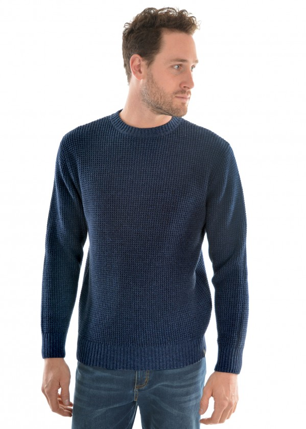 MENS STATION CREW NECK KNIT JUMPER
