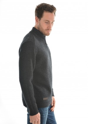 MENS MORELY 1/4 ZIP NECK JUMPER