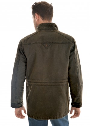MENS YANDA FAUX OILSKIN JACKET