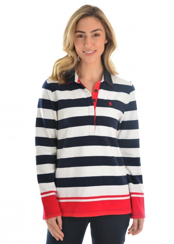 WOMENS YASS STRIPE RUGBY