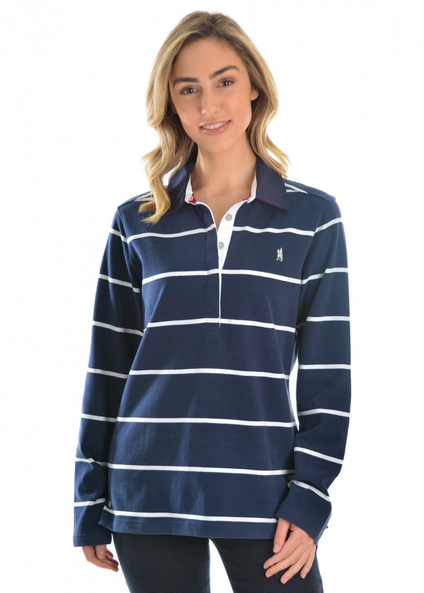 WOMENS SINGLETON STRIPE RUGBY