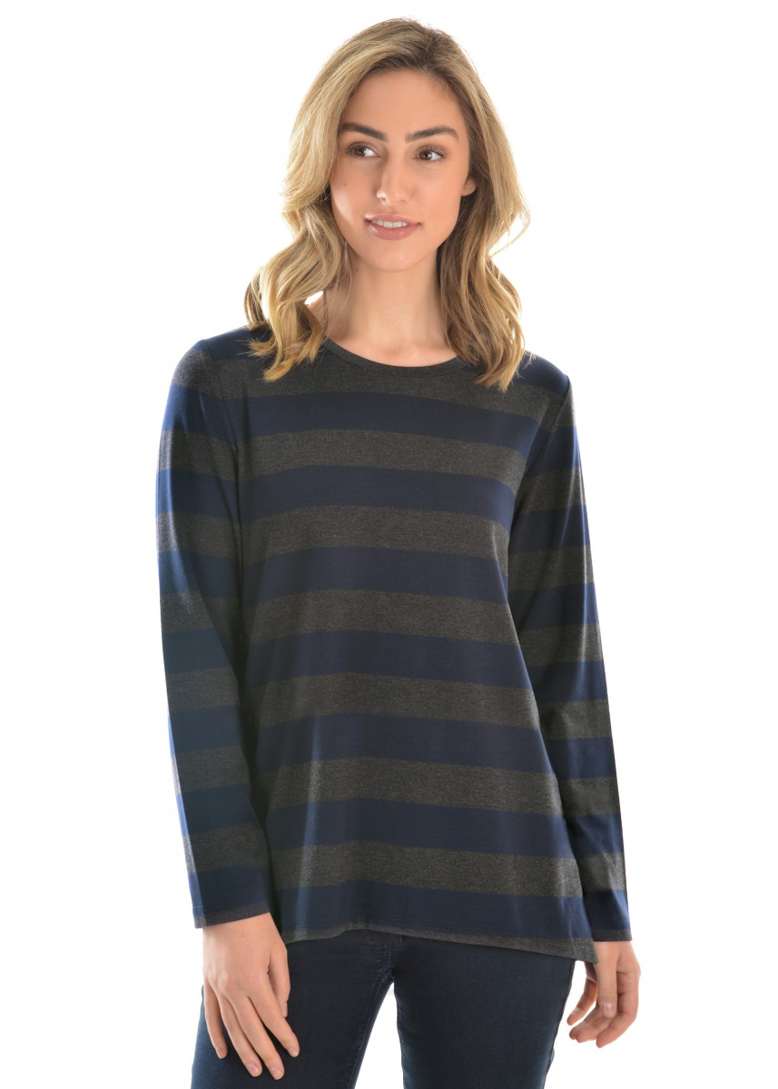 WOMENS BETTY STRIPE L/S TOP