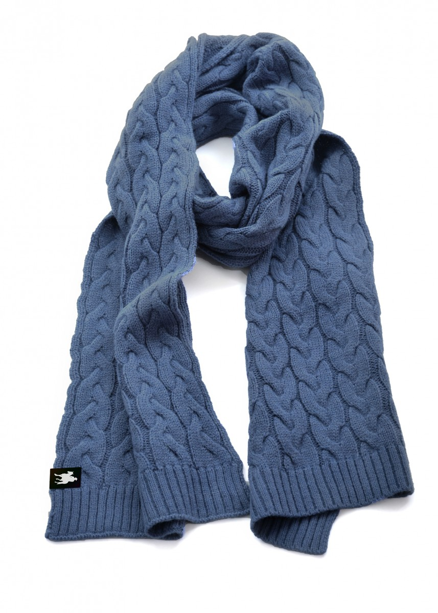 WOMENS CABLE KNIT SCARF
