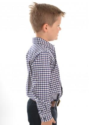 BOYS MASON CHECK 1-PKT L/S SHIRT
