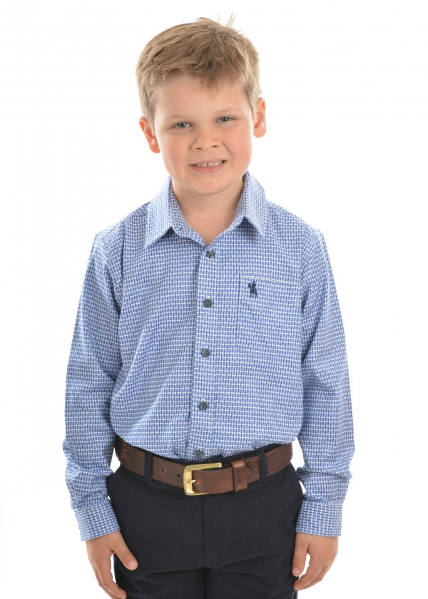 BOYS TYRO CHECK 1-POCKET L/S SHIRT
