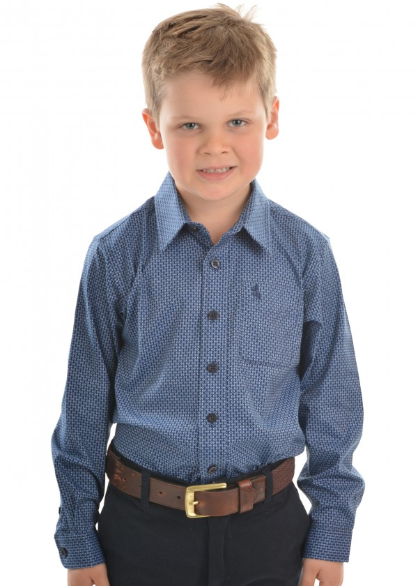 BOYS MCKINNON PRINT 1-POCKET L/S SHIRT