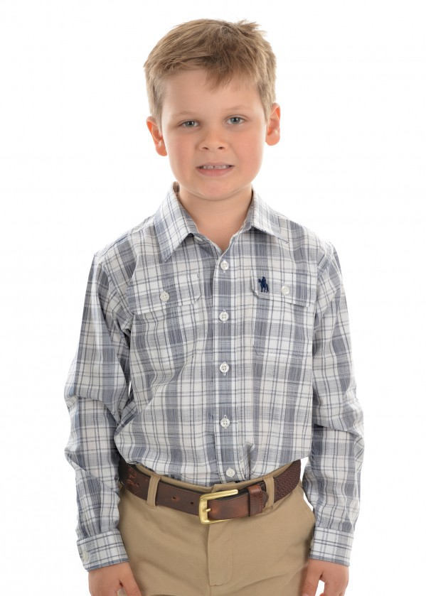 BOYS ANDREW CHECK 2-POCKET L/S SHIRT