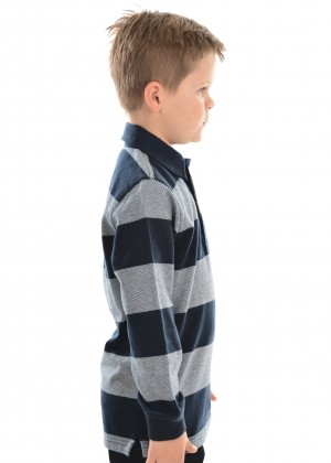 BOYS PAXTON STRIPE RUGBY