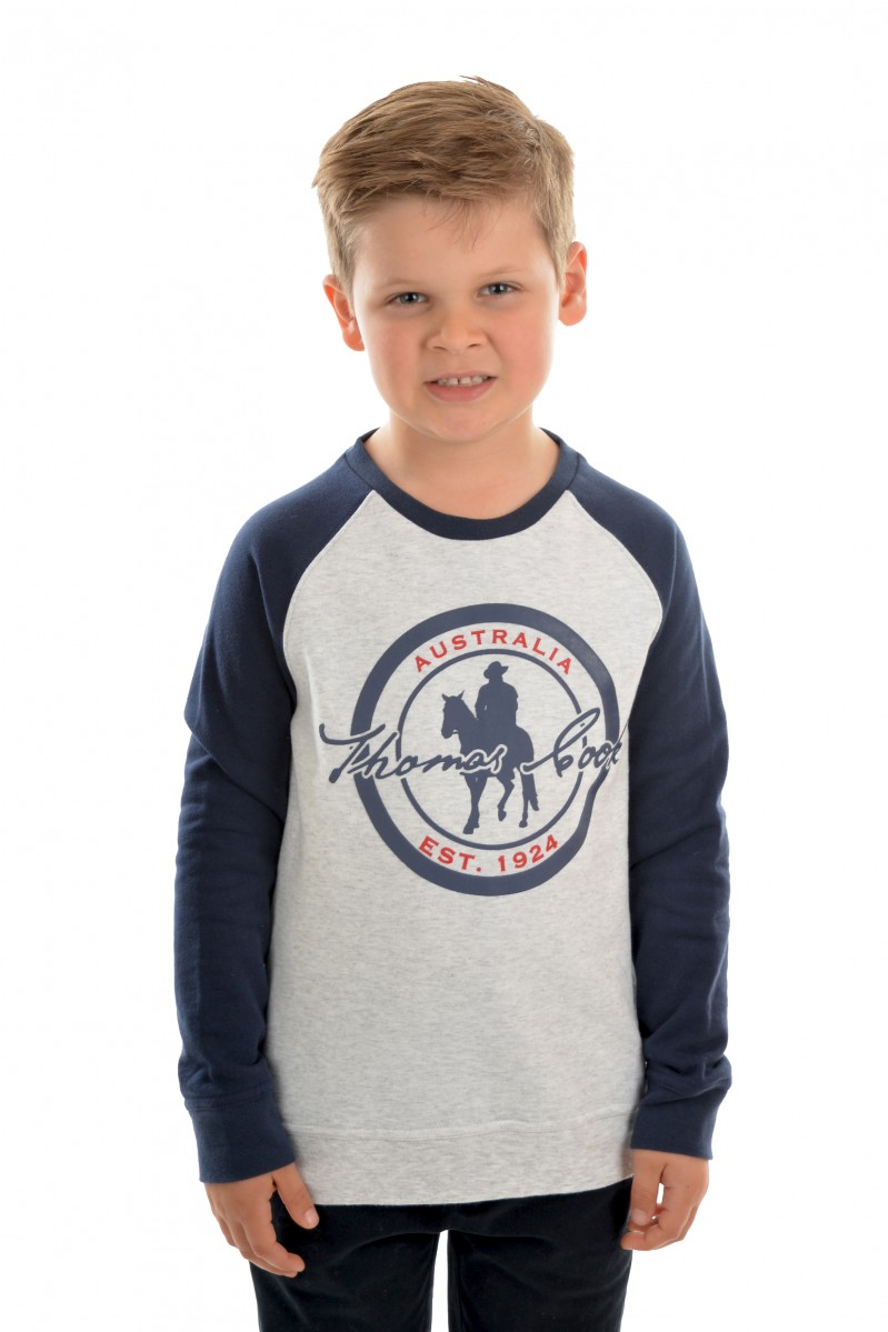 BOYS LOGO RAGLAN TOP