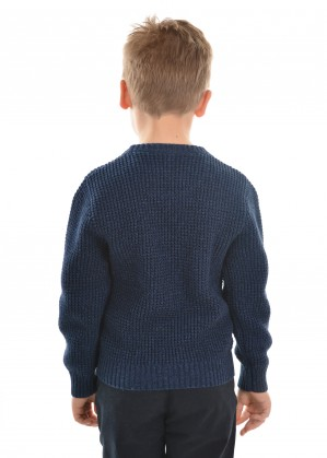 BOYS STATION CREW NECK KNIT JUMPER