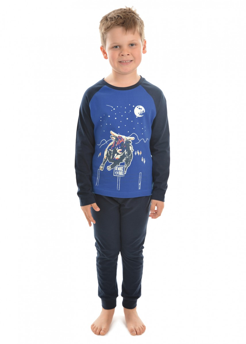 BOYS GLOW-IN-THE- DARK JUMPING BULL PJ