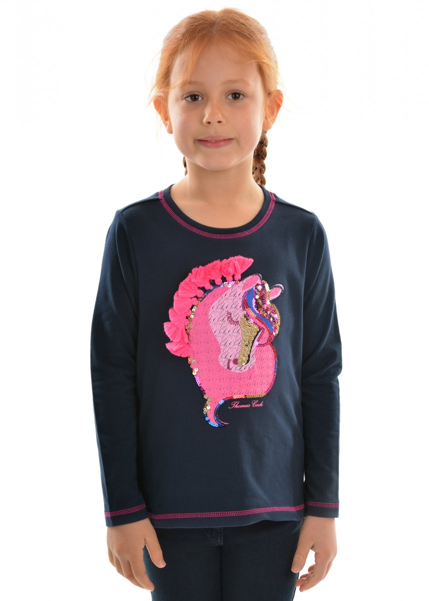 GIRLS APPLIQUE L/S TOP