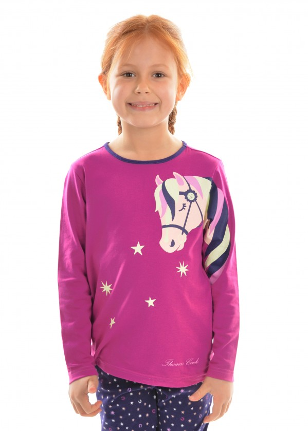 GIRLS GLOW STAR HORSE PJ's