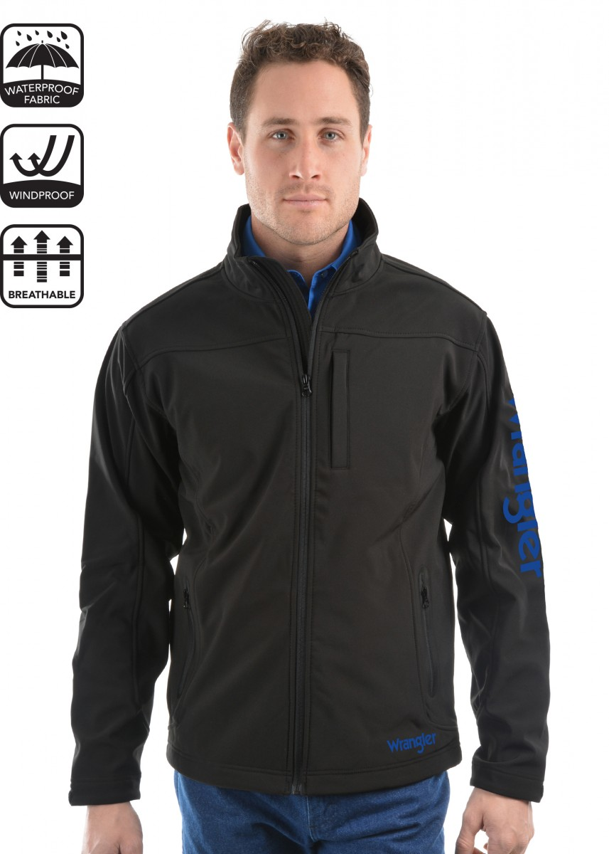 MENS LOGO SOFT SHELL JACKET