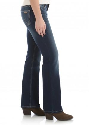WOMENS RETRO MID RISE BOOT CUT JEAN - MAE - 34 LEG