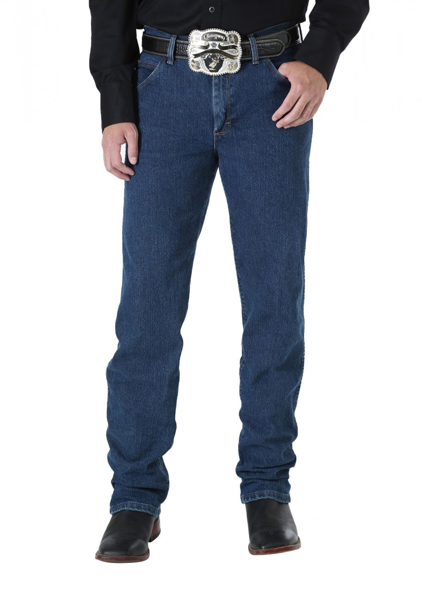 MENS P.PERF COWBOY CUT ADVANCED COMFORT REGULAR FIT JEAN - 34 LEG