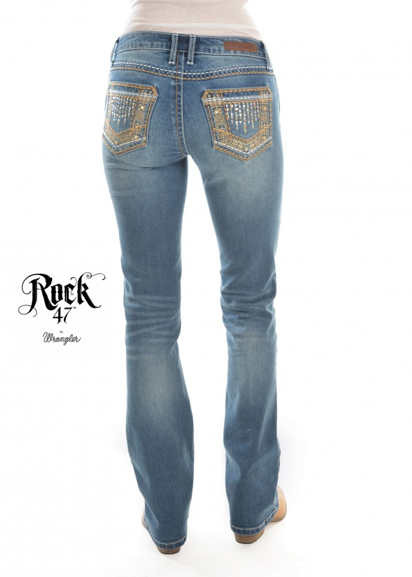WMNS SITS ABOVE HIP JEAN 34 LEG