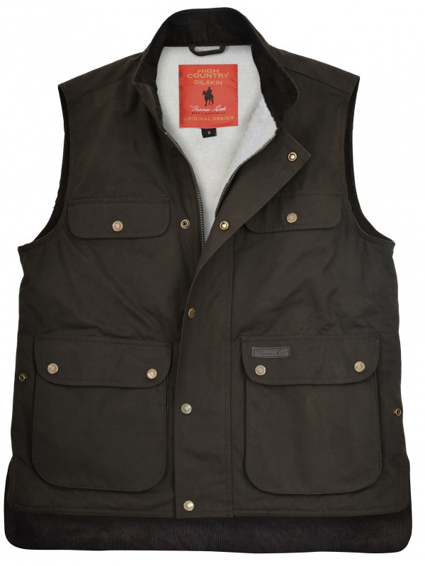 HIGH COUNTRY PROFFESSIONAL OILSKIN SHERPA VEST