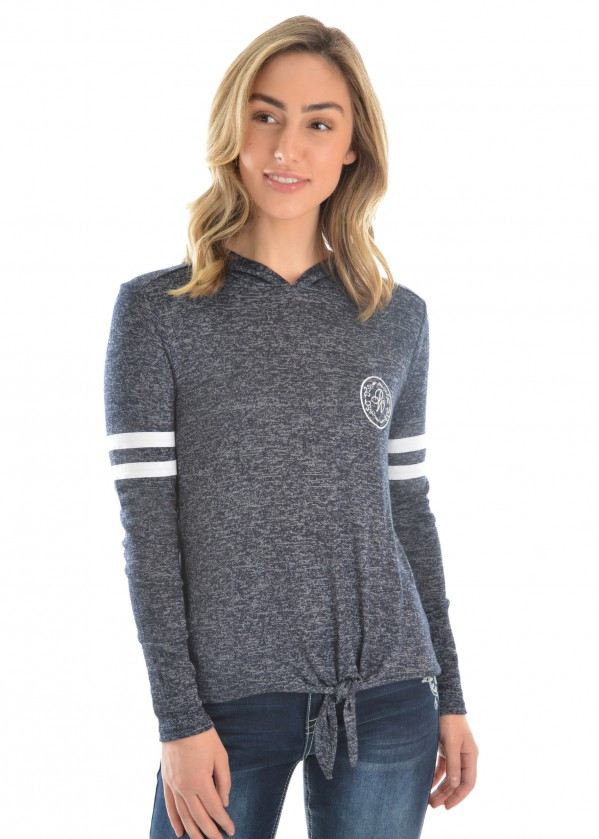 WOMENS ABBEY TIE FRONT TOP