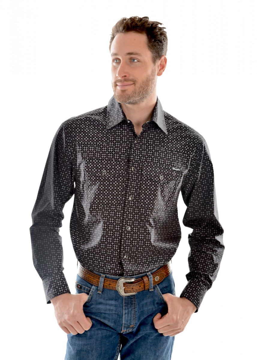 MENS FAIRFAX PRINT L/S SHIRT