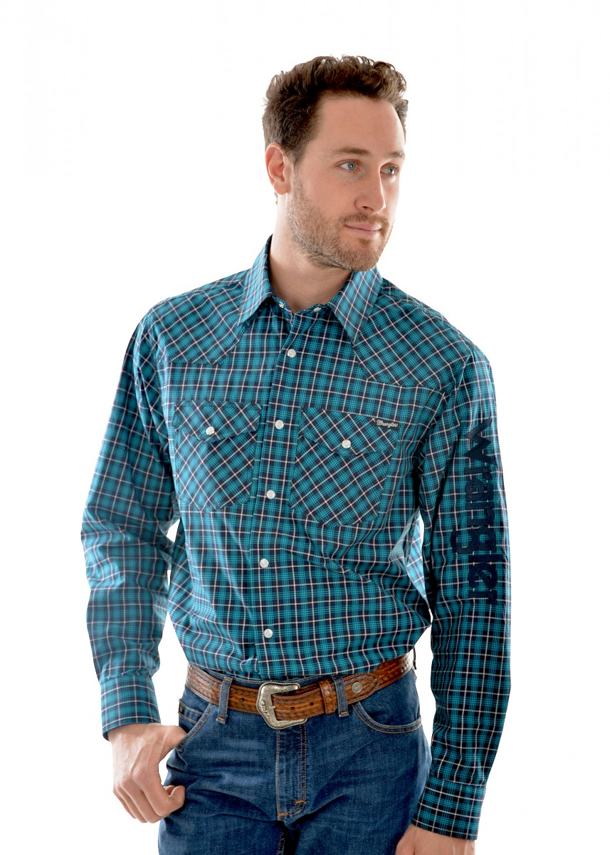 MENS FALCON CHECK L/S SHIRT