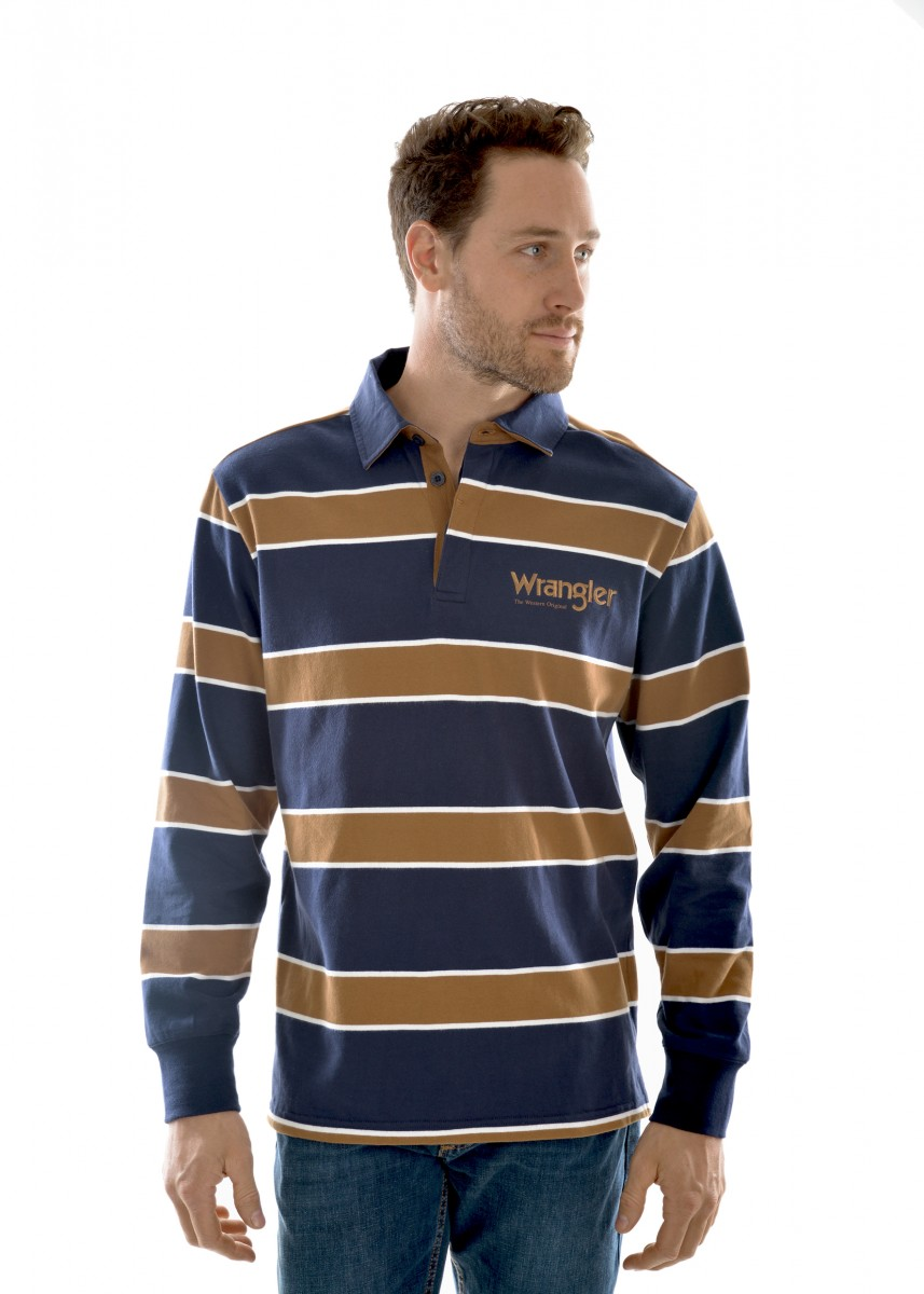 MENS FINCH STRIPE RUGBY