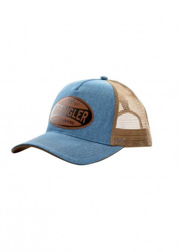 MENS DENIM TRUCKER CAP