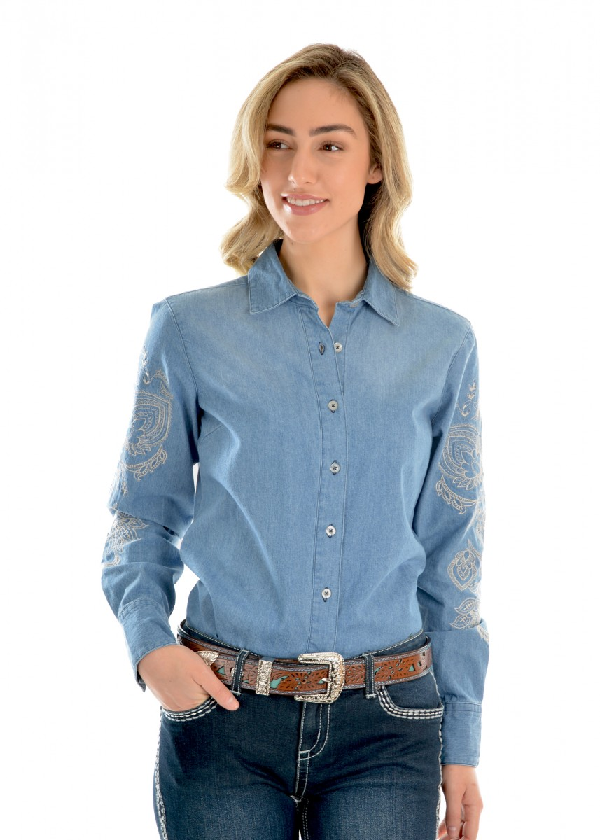 WOMENS VERA DENIM L/S SHIRT