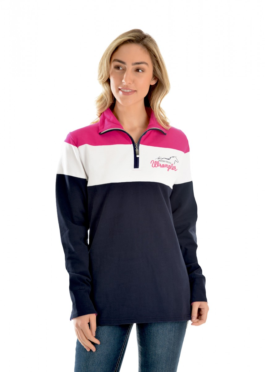 WOMENS JANE PANELLED L/S RUGBY