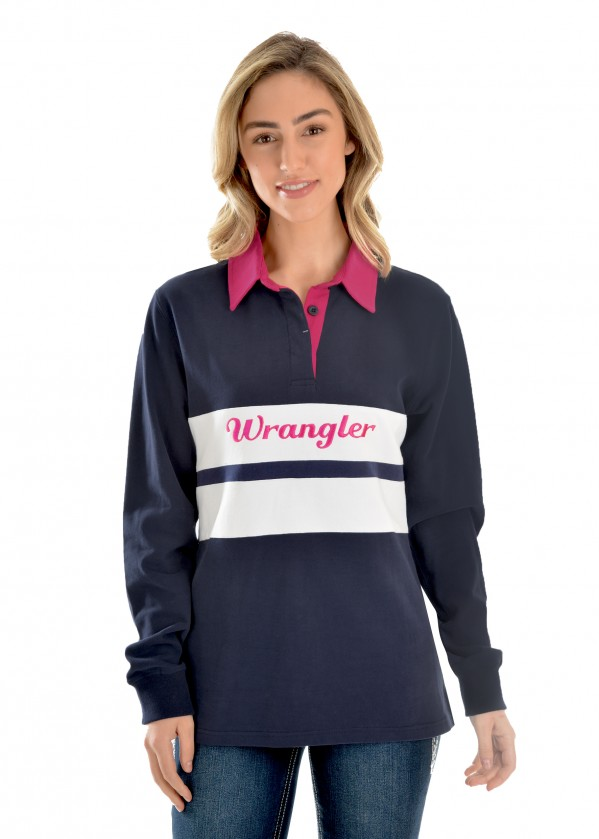 WOMENS JENNA PANELLED L/S RUGBY