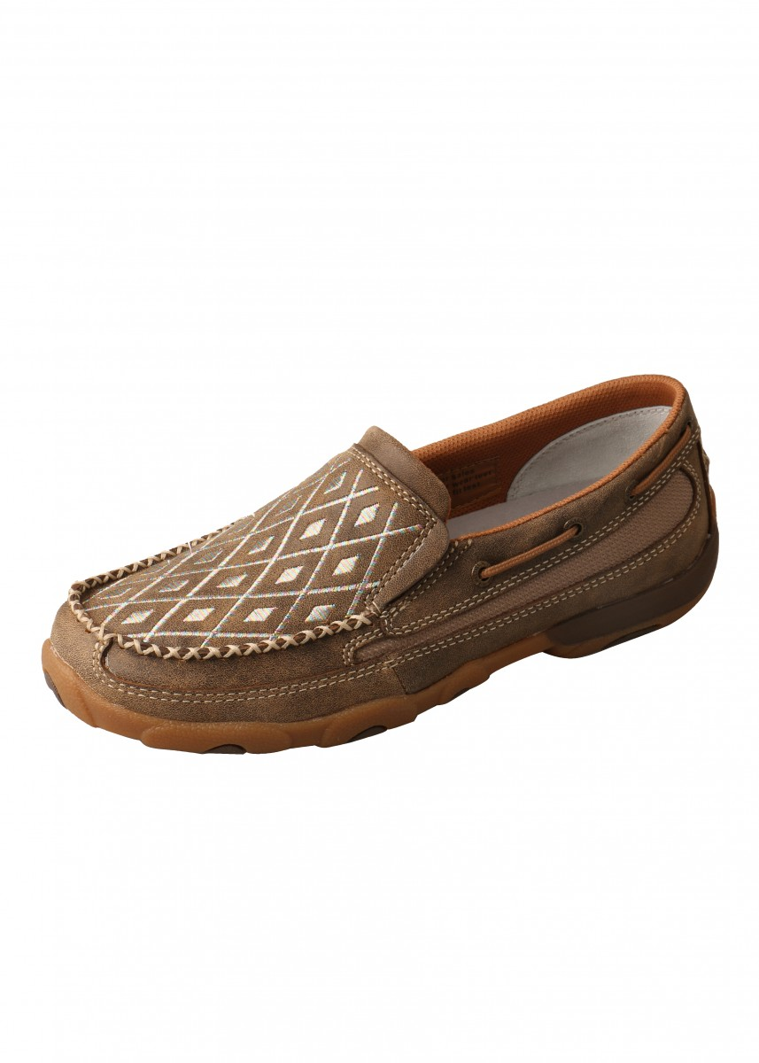 WOMENS DIAMOND MOCS SLIP ON