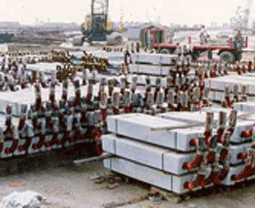 Aluminium Anodes Ready to be Installed