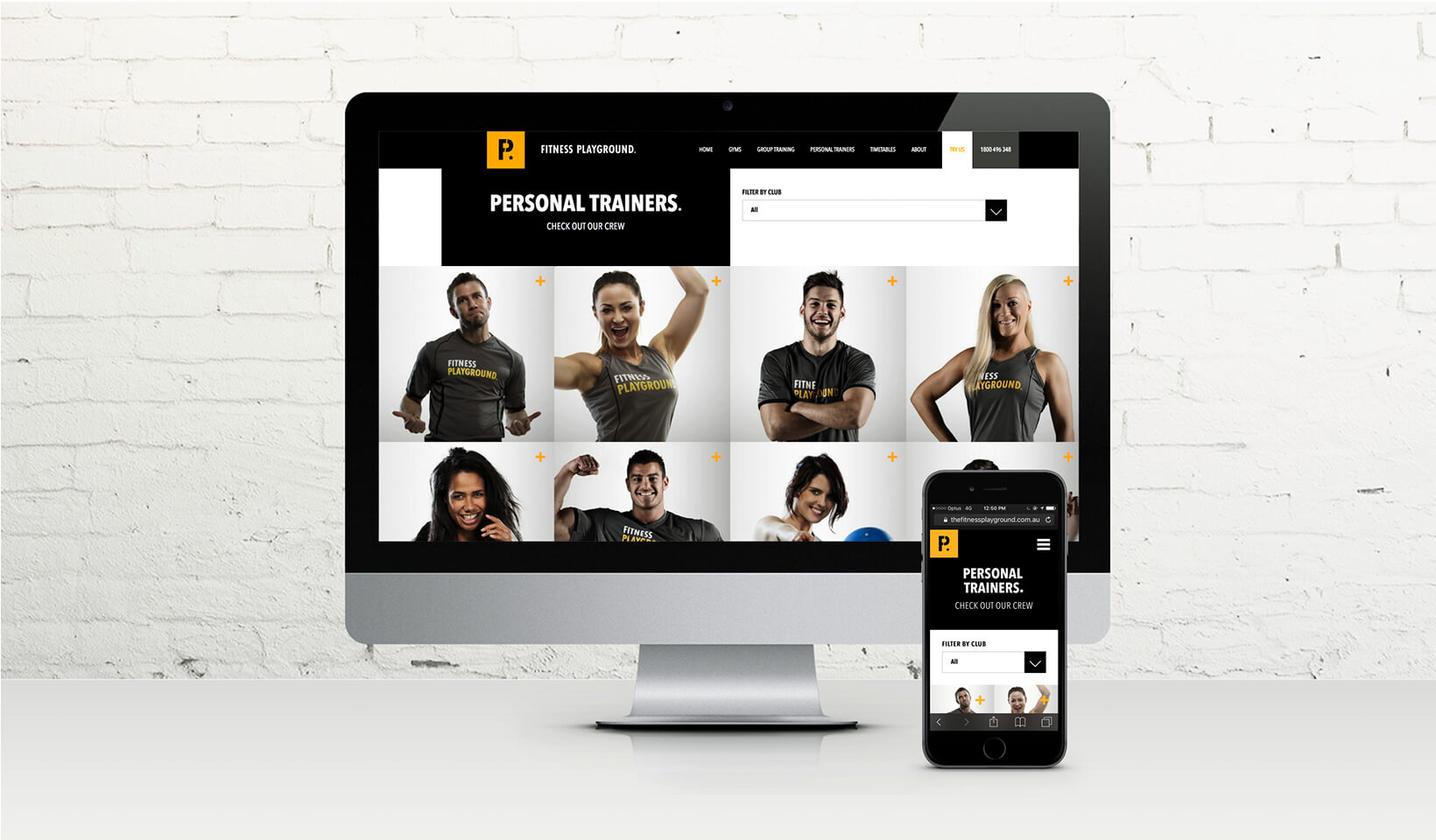 Fitness Playground Website