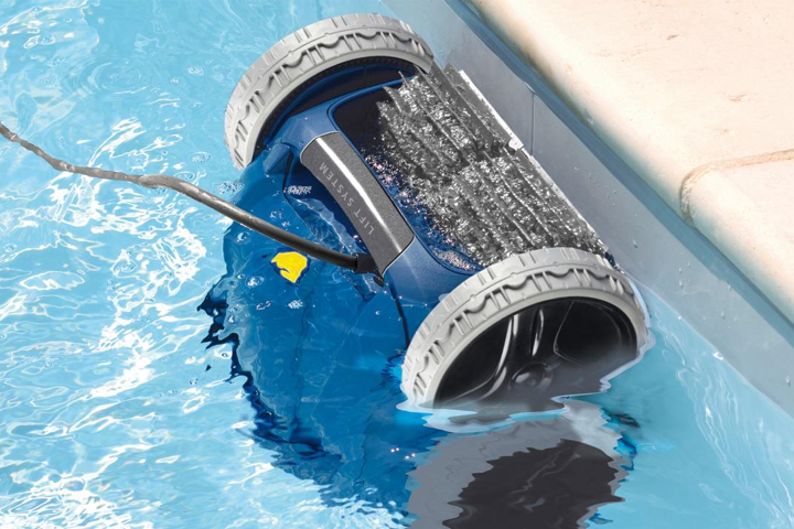 Debris that settles to the pool bottom should be vacuumed