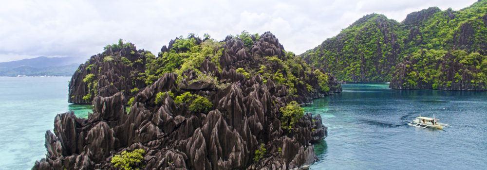 Coron Palawan Limestone Cliffs by Dan Moore