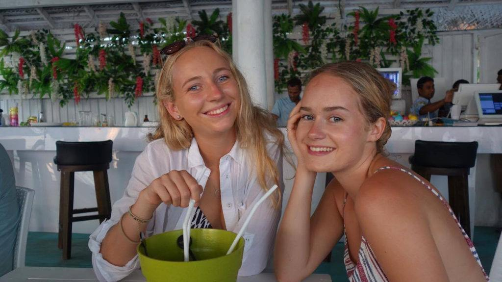 Sarah Gallagher (left) and her best mate Lauren Cambitzi