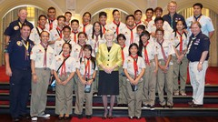 Ticket to Life Scouts with Governor General of Perth