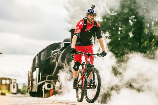 Danny MacAskill eyes up gap