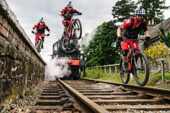 Danny MacAskill gap to rail ride