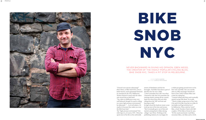 Issue 13 Treadlie Magazine December 2013 Eben Weiss Bike Snob NYC