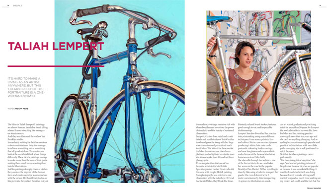 Treadlie Magazine Issue 7 June 2012 - Taliah Lempert