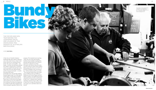 Treadlie Magazine Issue 6 September 2012 - Bundy Bikes