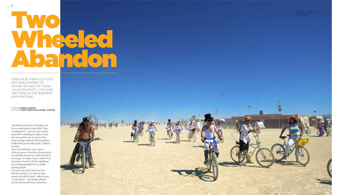 Treadlie Magazine Issue 6 September 2012 - Burning Man
