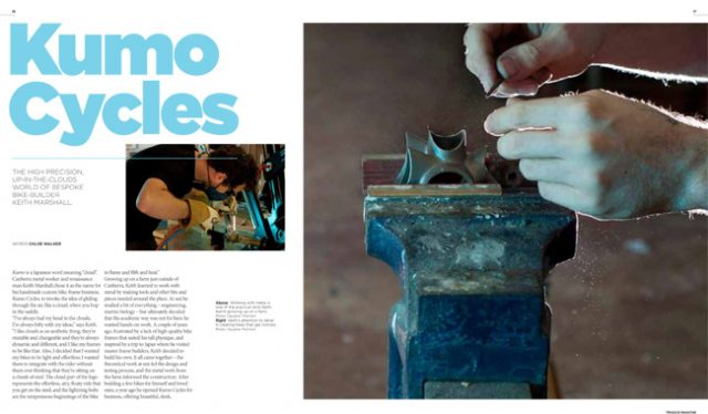 Kumo Cycles in Treadlie Magazine Issue 9 December 2013