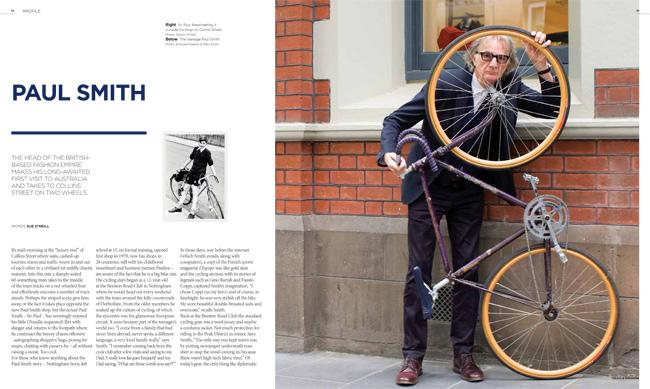 Paul Smith in Treadlie magazine Issue 9 December 2013